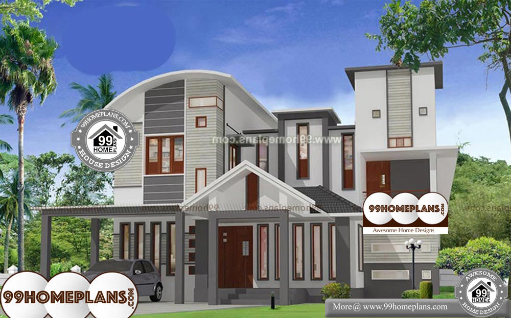 Kerala House Plans With Cost - 2 Story 2023 sq ft-Home