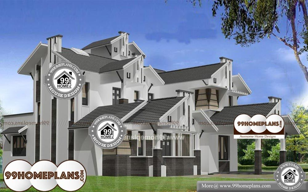 Kerala Style House Elevation Gallery - 2 Story 2670 sq ft-Home