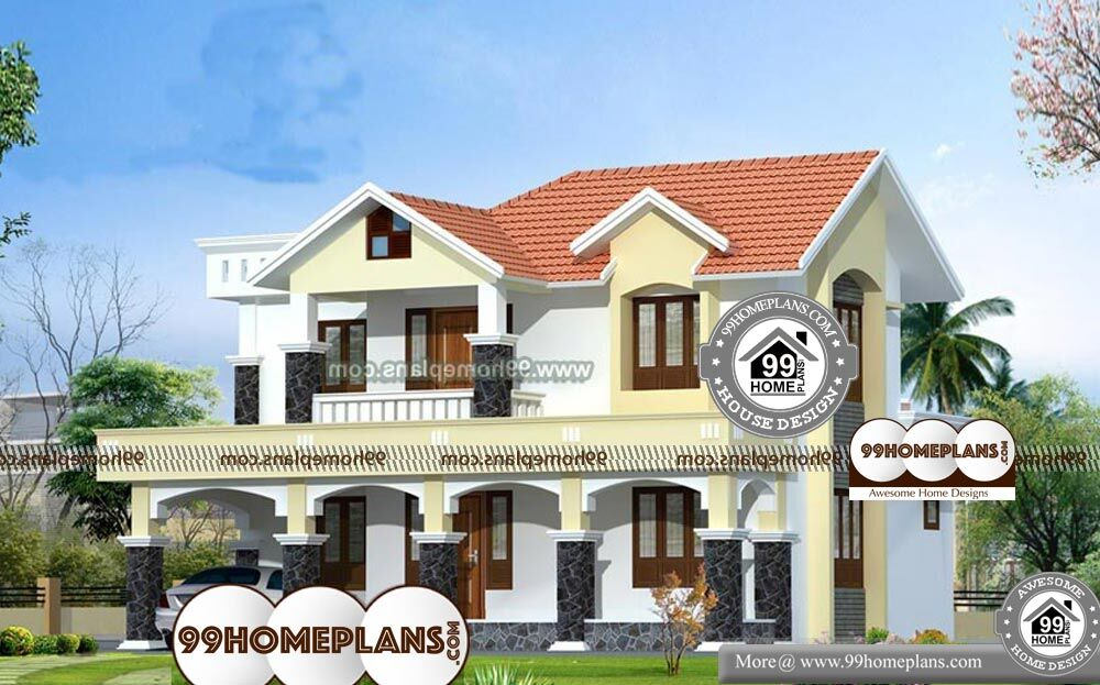 Large Simple House Plans - 2 Story 2110 sqft-Home