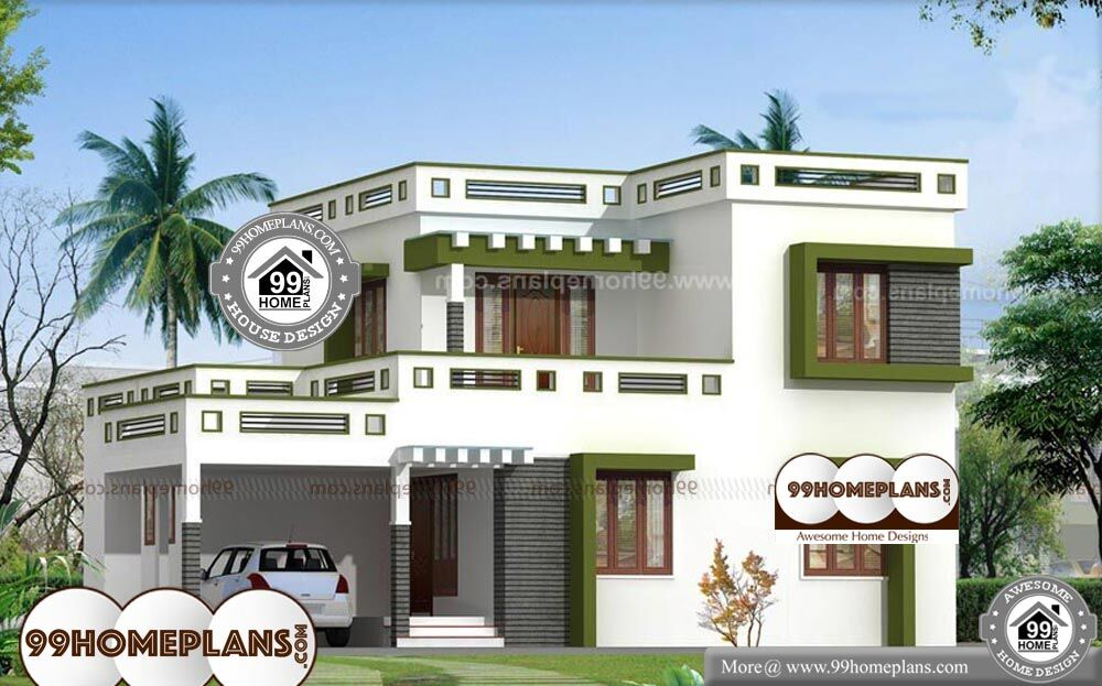 Low Cost House Plans With Estimate - 2 Story 1700 sqft-Home