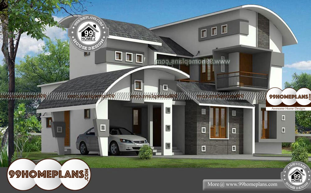 Low Cost House Plans With Photos - 2 Story 2377 sq ft-Home