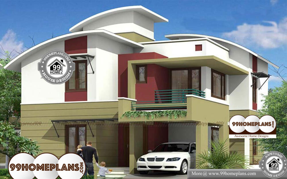 Modern Arch Home Plans - 2 Story 2035 sqft-Home