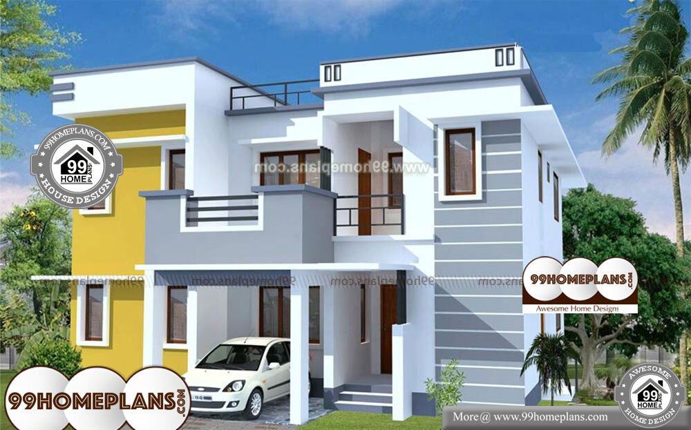 Modern Cube House Plans - 2 Story 1900 sq ft-Home