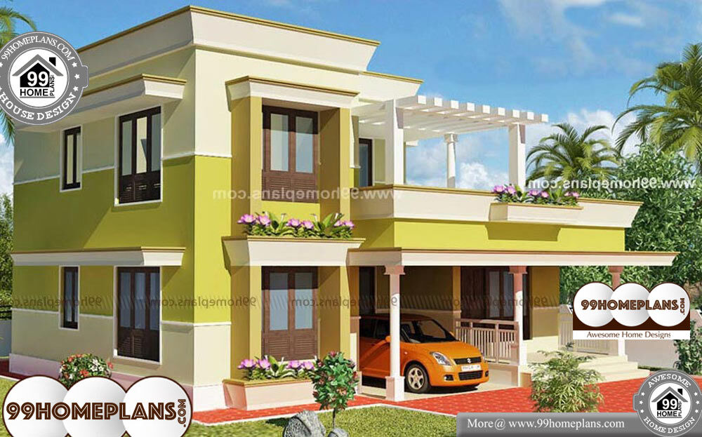 Modern House Plans Free - 2 Story 1800 sqft-Home
