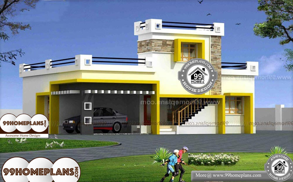 Narrow Lot Modern House Plans - 2 Story 1500 sq ft-Home