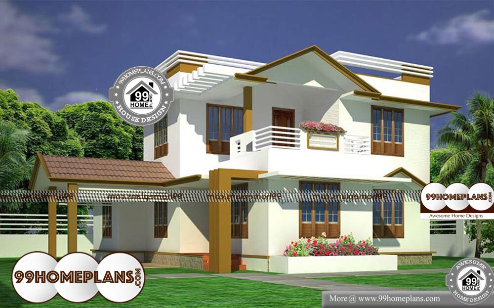 Ready made house plans for 3bhk 2 story modern indian for Ready made house plans
