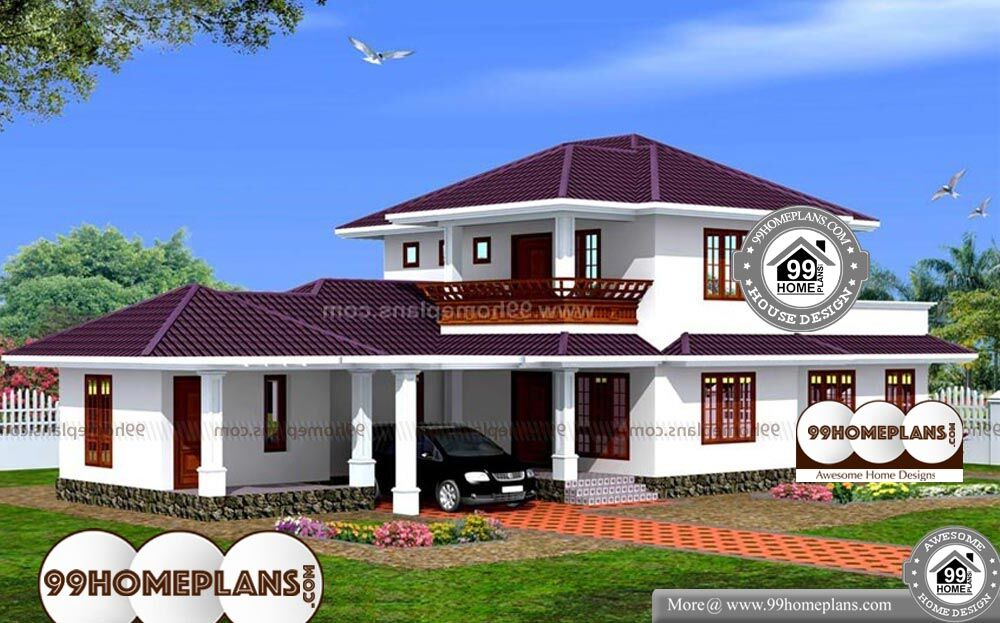 Sloped Roof Front Elevation - 2 Story 1873 sq ft-Home
