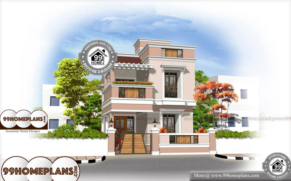 Small Apartment Plans - 2 Story 1600 sqft-Home