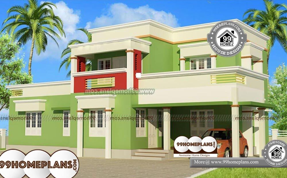 Small Box Type House Design - 2 Story 1879 sqft-Home
