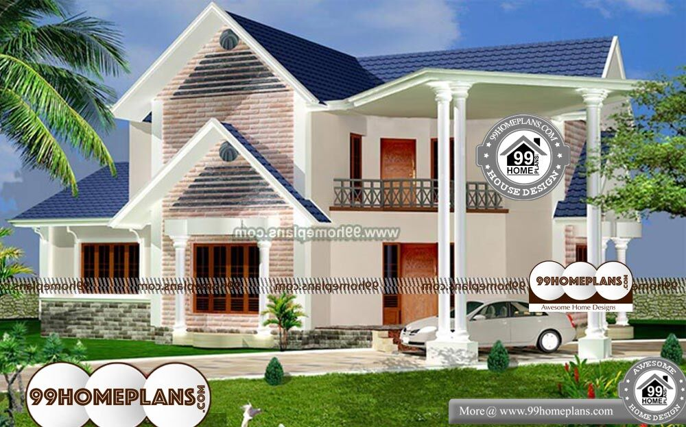 Small Stone House Plans - 2 Story 2400 sq ft-Home