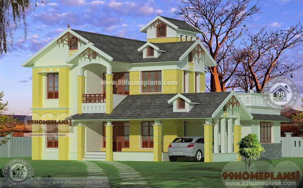 Contemporary gable designs best modern two story house Modern two story homes