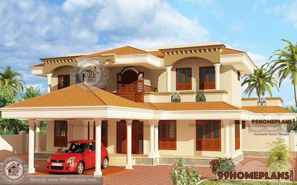 Low Cost Two Storey House Design: Kerala House Designs Low Cost