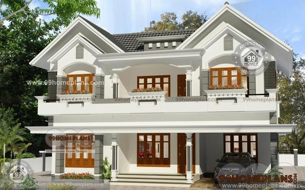 Two Storey House Plan And Elevation : Two story kerala house plans and elevations