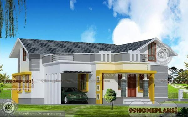 Kerala Veedu Plan – Home Elevation & House Designs – Best Single Story