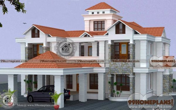 Luxury Bungalow House Plans U2013 Indian Home Design Collection U2013 2 Story
