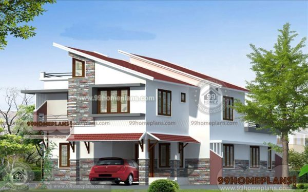 Steep Slope House Plans | Modern Slope House Plans Two Story Very Steep Sloping Home Designs