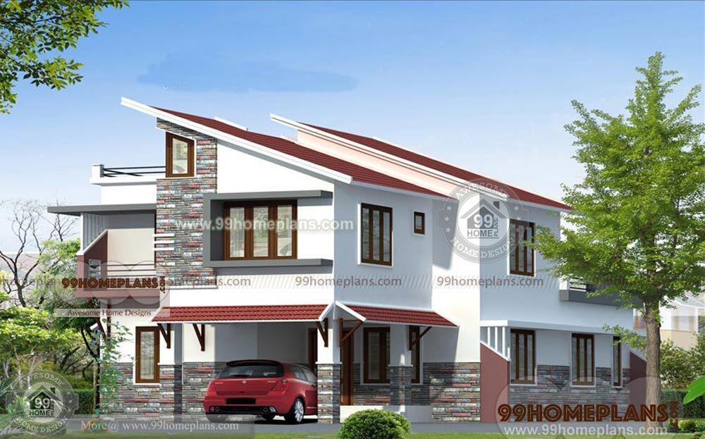 Modern slope house plans two story very steep sloping for House plans for steep sloping lots