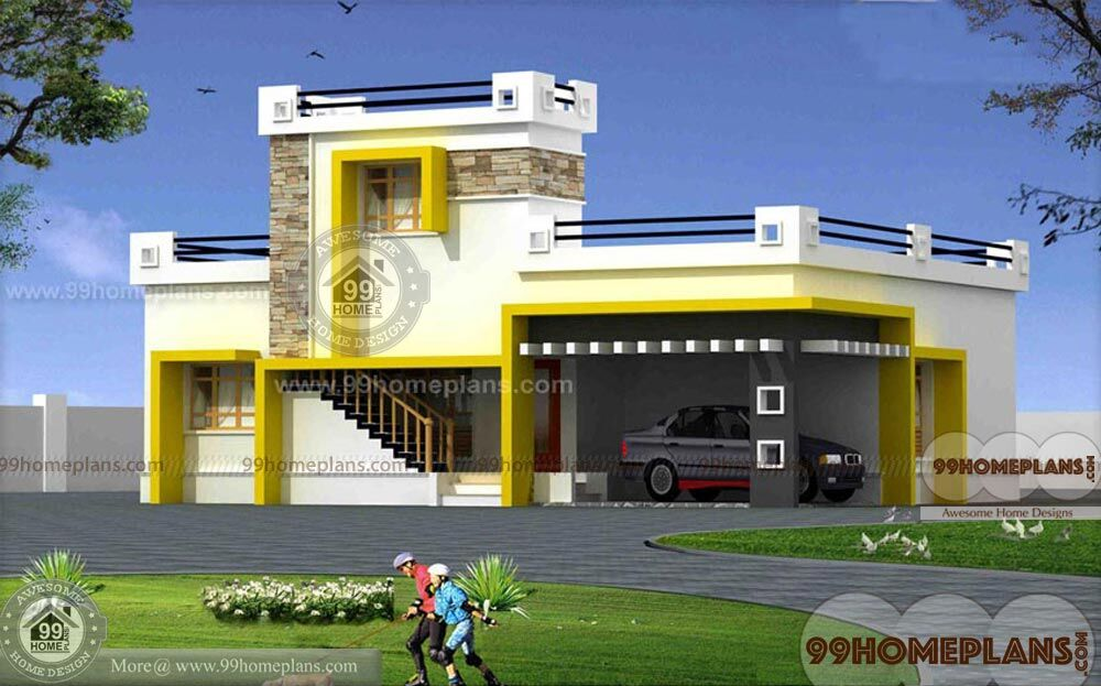 narrow lot modern house plans
