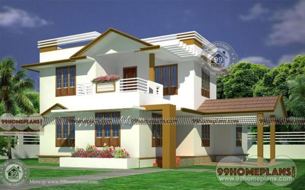 Ready made house plans for 3bhk 2 story modern indian for Pre made house plans