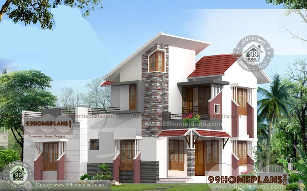 sloping roof house designs