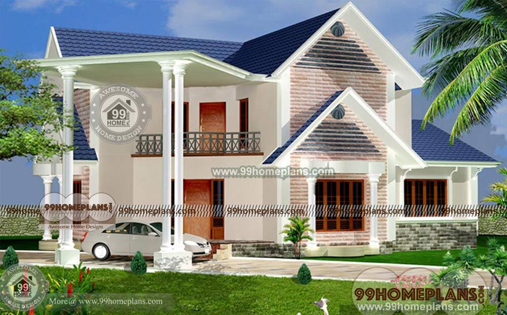 Small Stone House Plans Home Elevation Double Story Modern Styles