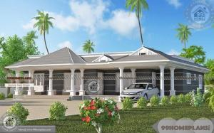 1 Floor House Plans Modern Wide and Spacious Traditional Home Design