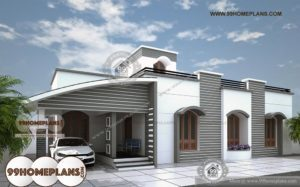 2 Bedroom Bungalow Designs and Home Elevation & Single Story Houses