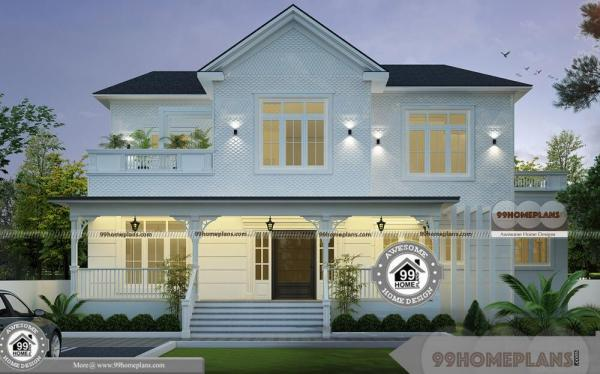 2 Storey Narrow Block Design with More Awesome and Stylish House Plan