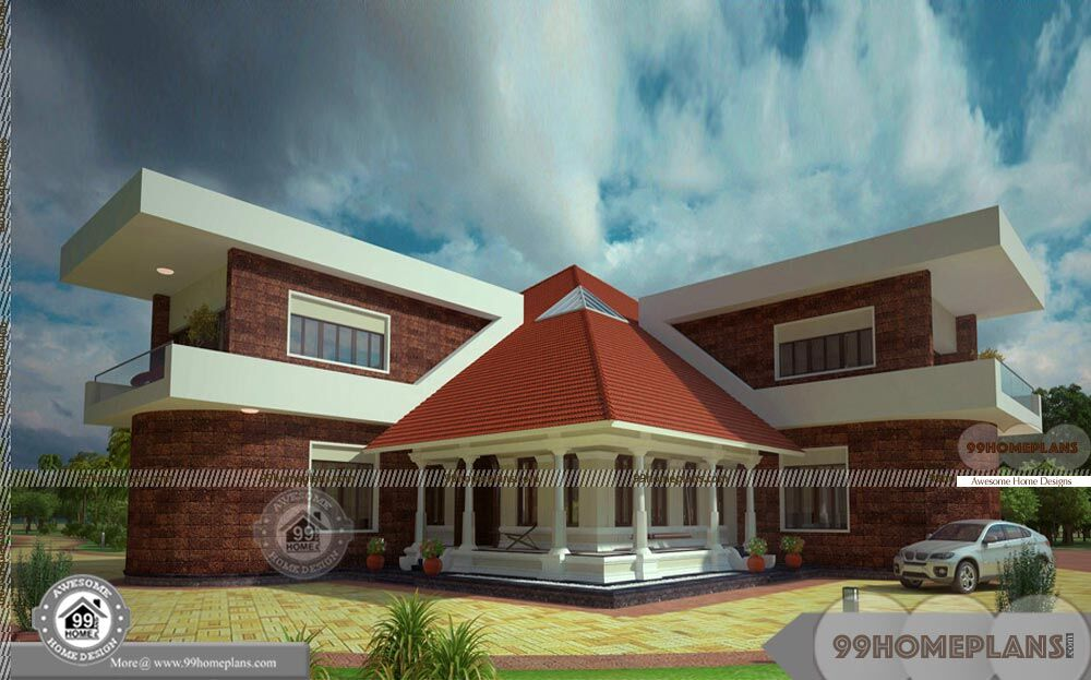 2 Story Brick House Plans 2 Floor Huge Traditional