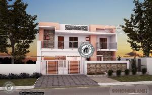 3 Bedroom Bungalow House with 2 Story Home Plan Sketch Designs Free