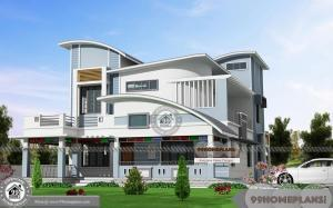 3 Bedroom Double Story House Plans with Contemporary Ranch Styles