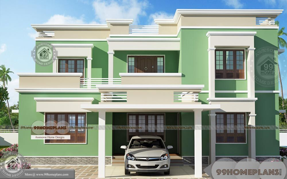 3d House Plans Free Online with 2 Story Flat Type Modern ...