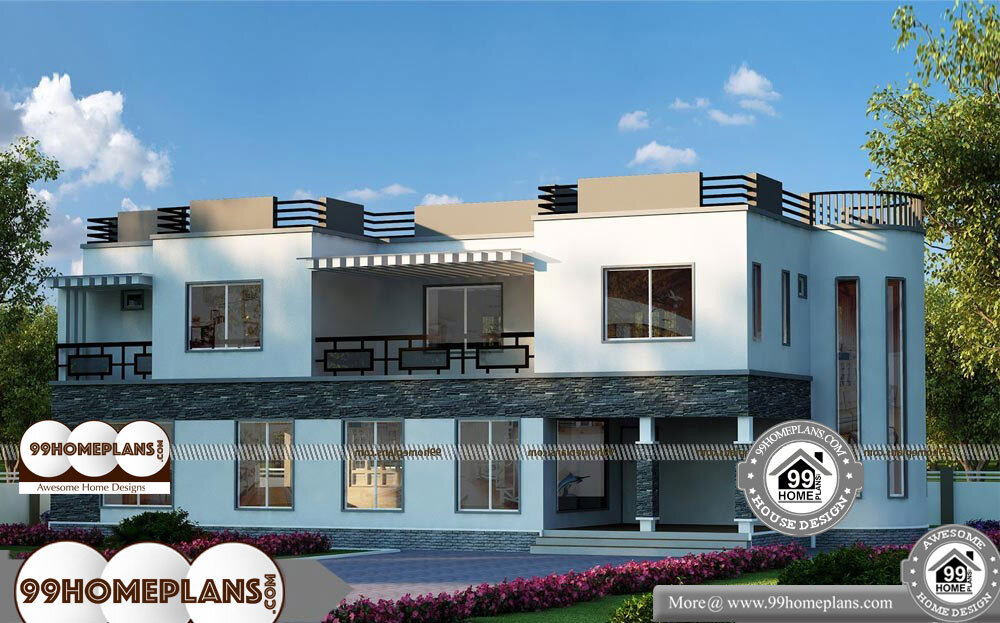 5 Bedroom Double Story House Plans - 2 Story 4584 sqft-Home