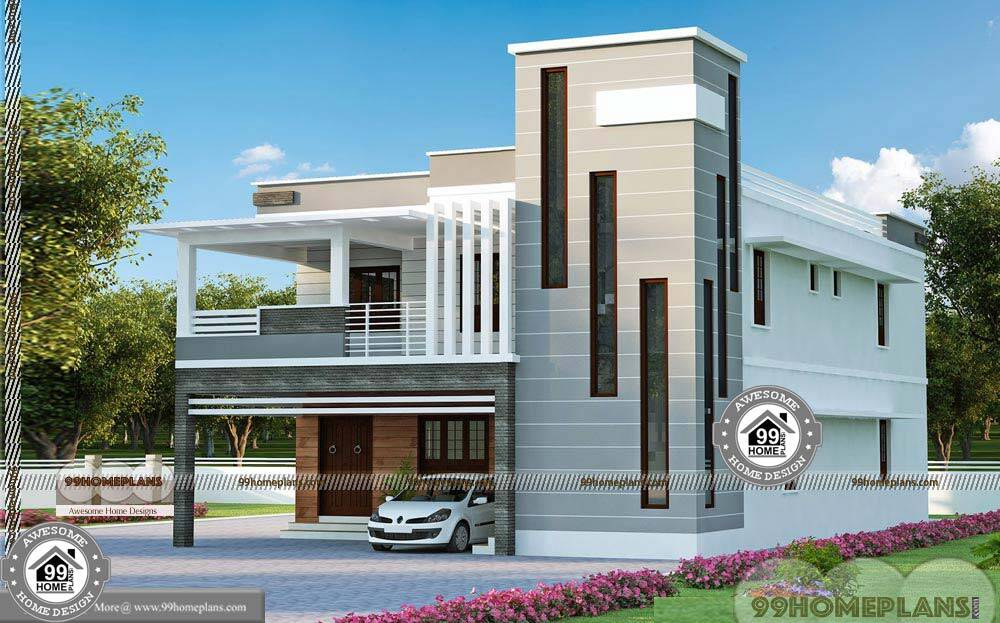 5 Homes That Prove That Less Is More: 5 Bedroom Double Storey House Plans With Less Expensive