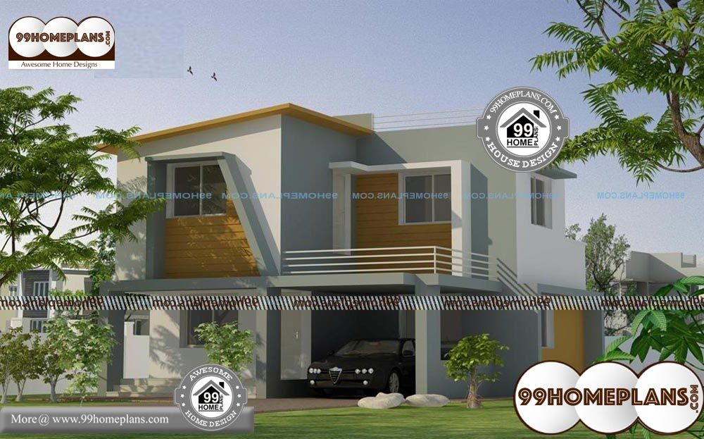 Architectural Elevation Design For Residential Houses - 2 Story 1356 sqft-Home