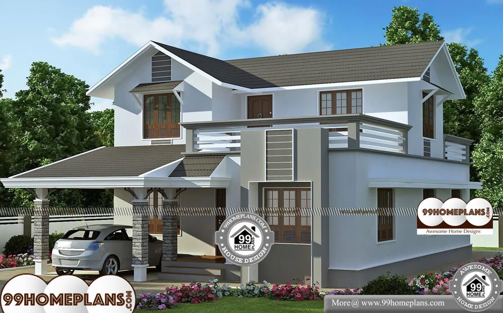Architectural Plan Of A House - 2 Story 1983 sqft-Home