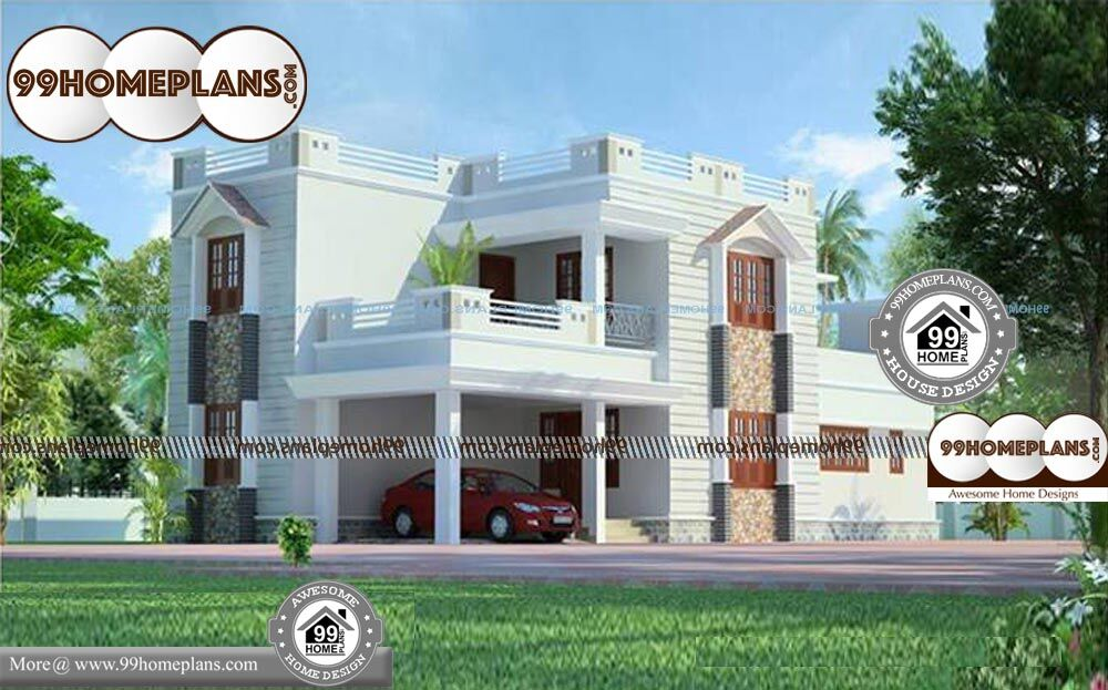 Beautiful House Plans And Designs - 2 Story 1968 sqft-Home