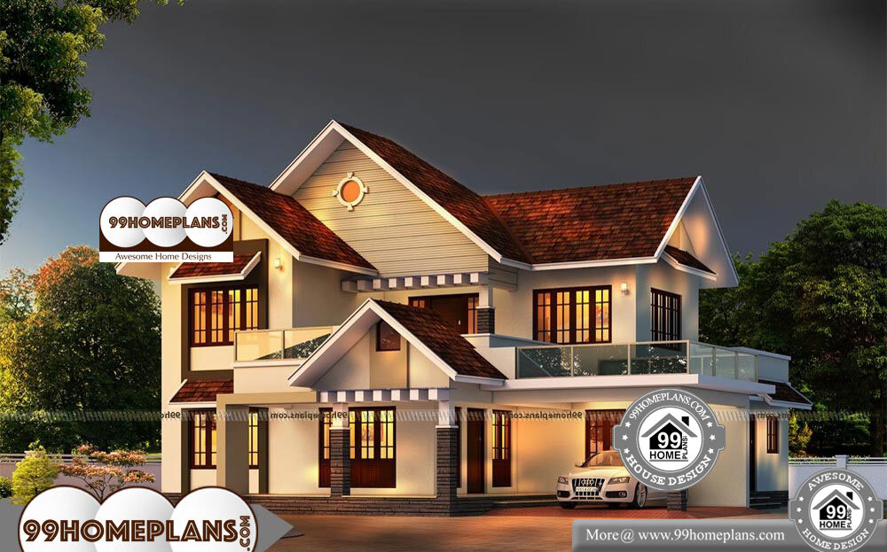 Bungalow House Plans Small - 2 Story 2850 sqft-Home