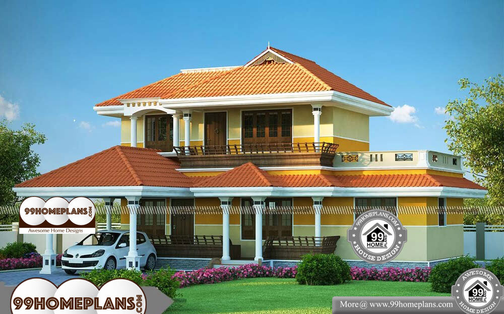 Cheap two storey homes with traditional patterned house for Cheap 2 story houses