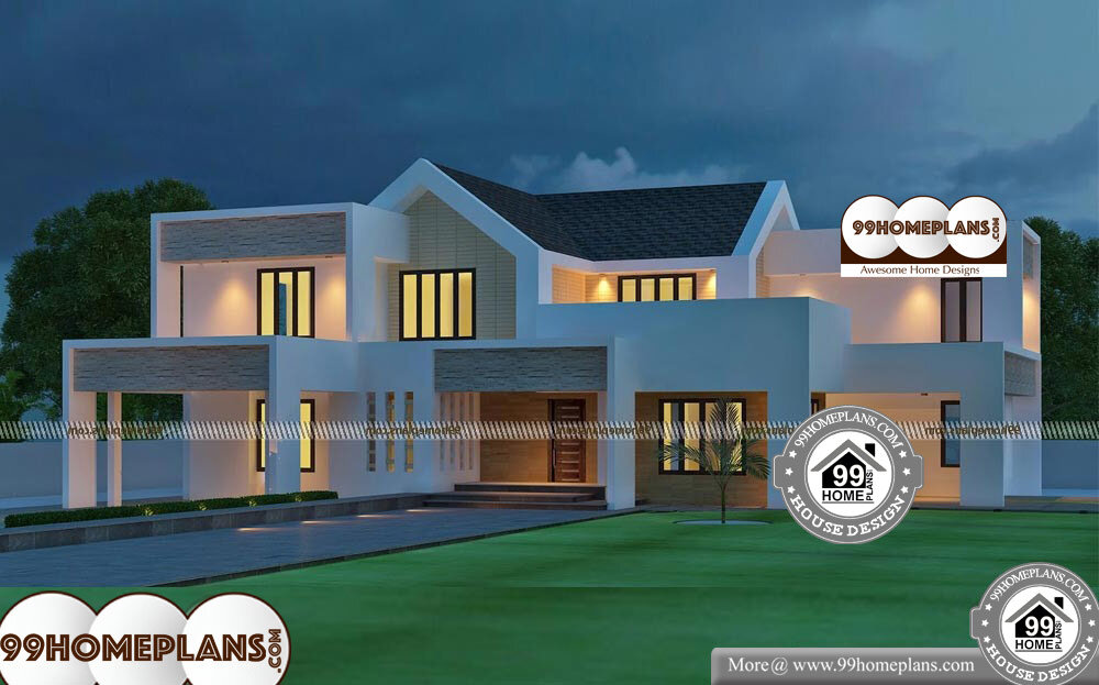 Contemporary Home Plans Free - 2 Story 4500 sqft-Home