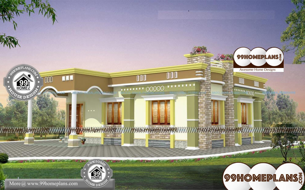 Contemporary House Plans In Kerala - 1 Story 1200 sqft-Home