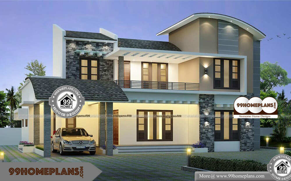 Corner Lot House Design with Two Floor European Style Home ...