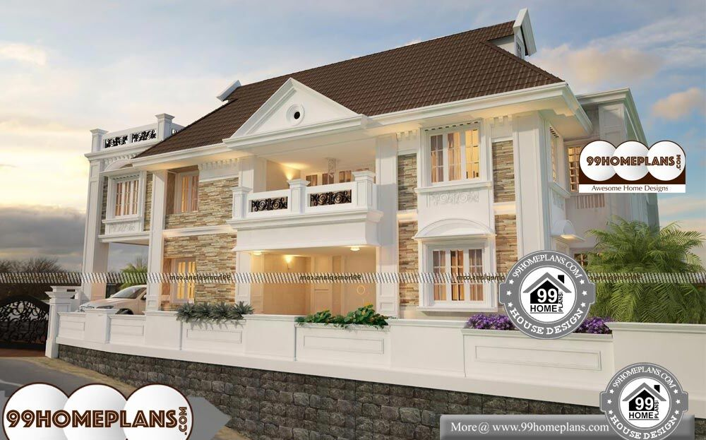 Cost Effective House Plans - 2 Story 5800 sqft-Home