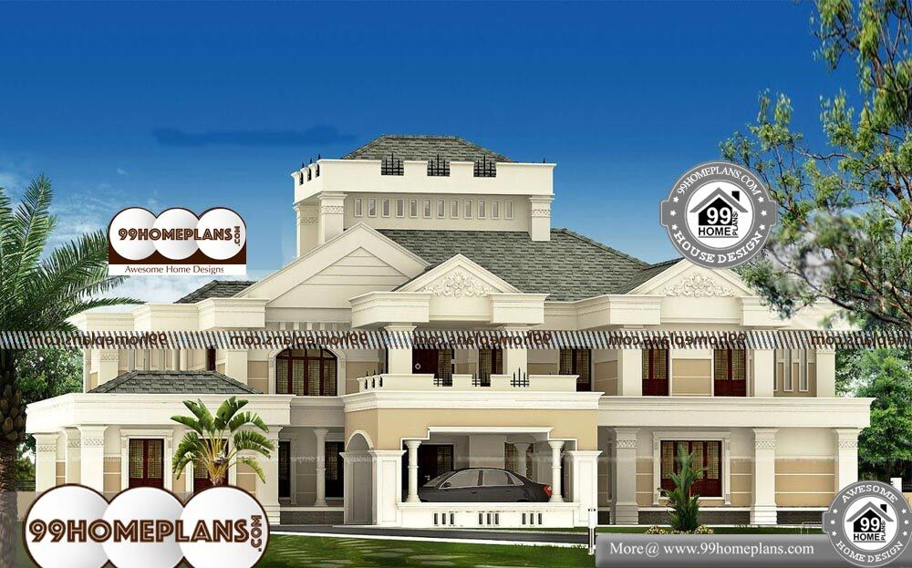 Custom Luxury House Plans - 2 Story 5676 sqft-Home