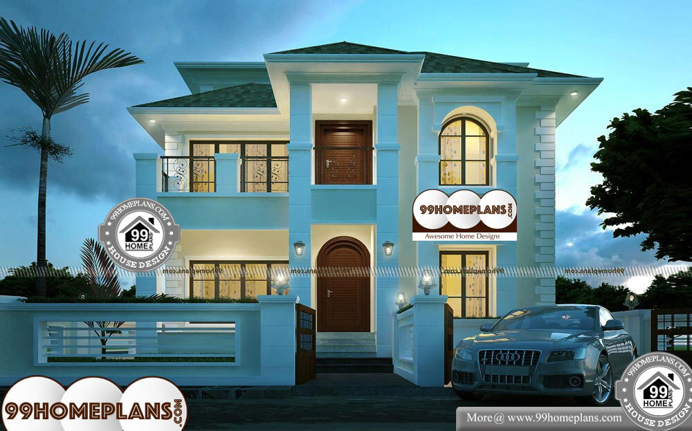 Different Types Of Houses Drawing - 3 Story 5175 sqft-Home