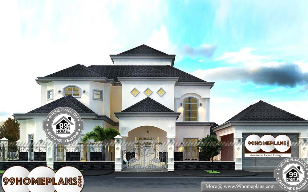 Dubai House Plans Designs - 2 Story 12000 sqft-Home