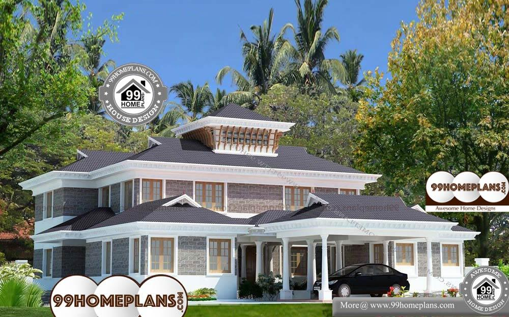 Front Design Of House In Indian Double Story Part - 40: Front Design Of Small Indian House - 2 Story 5037 Sqft-Home