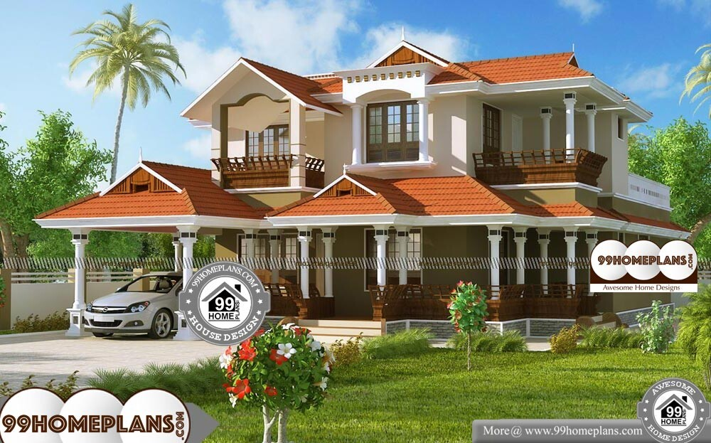 Latest Model House Plans In Kerala - 2 Story 2584 sqft-Home