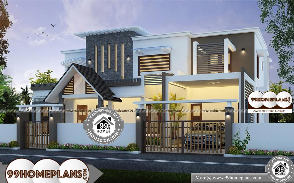 Modern House Plans For Narrow Lots - 2 Story 2670 sqft-Home