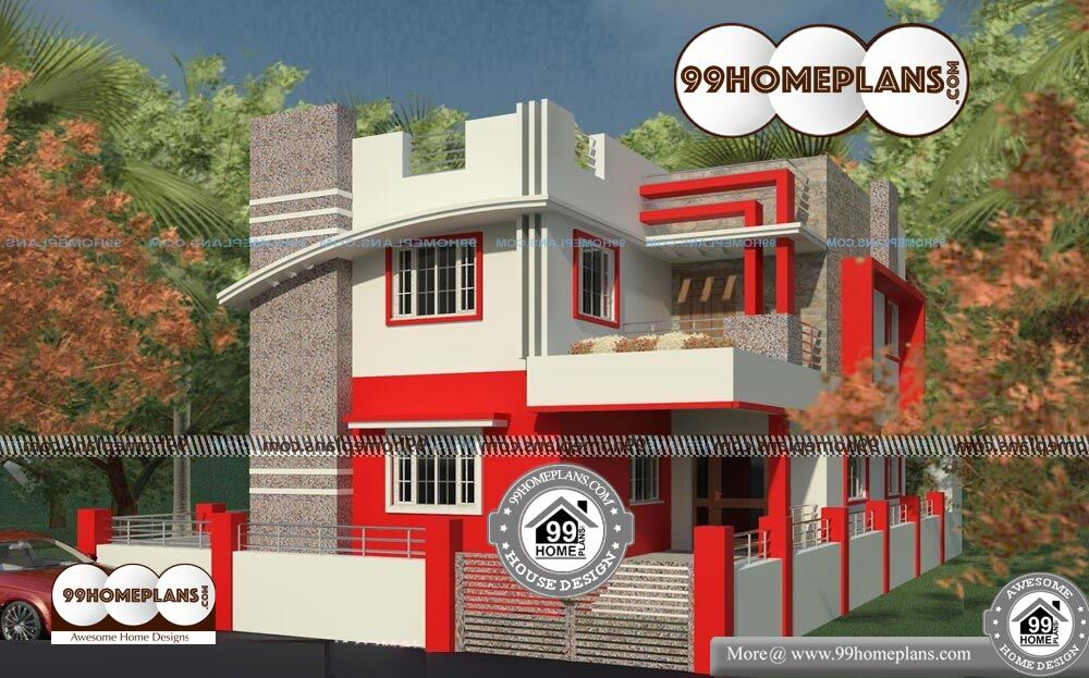 Most Beautiful House Plans - 2 Story 1375 sqft-Home